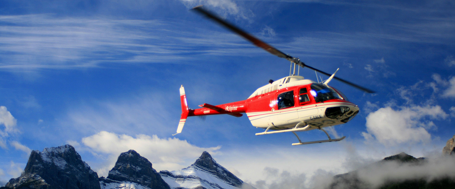 Banff Adventures  Rocky Mountain Winter Helicopter Tours